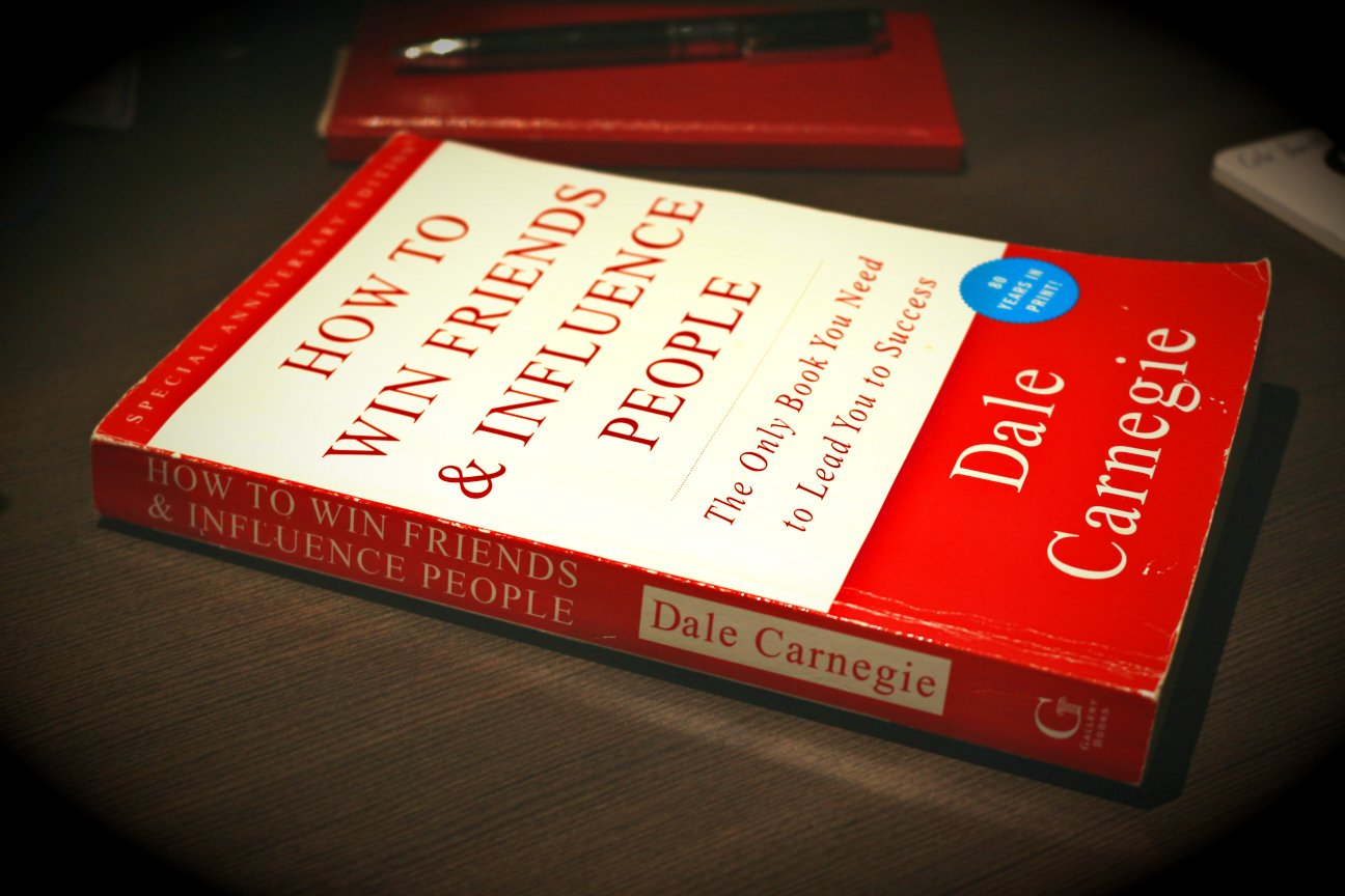 My personal copy of How to Win Friends and Influence People, sitting on my desk.